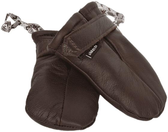 Lindberg K Moose Leather Mini Mitten Rukkaset DARK BROWN (Sizes: One size)