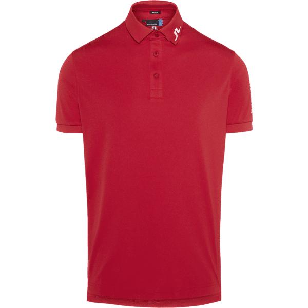 Image of J Lindeberg M Tour Tech Regular Tx Polo Golfvaatteet RACING RED (Sizes: S)