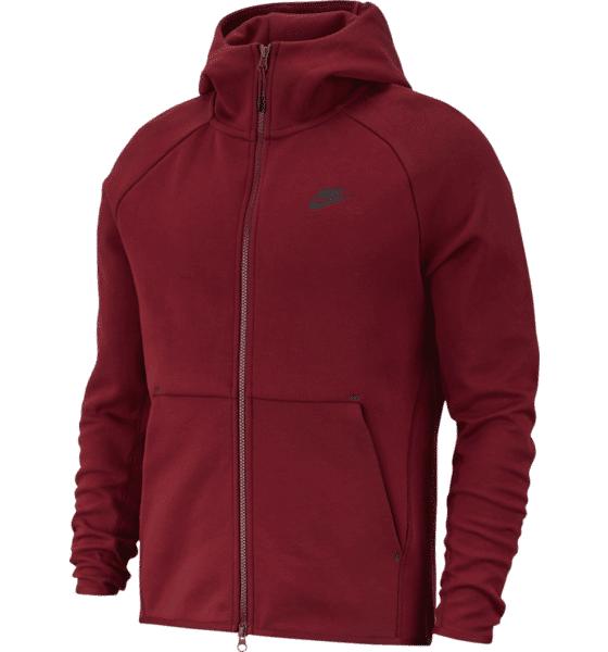 Image of Nike M Nsw Tch Flc Hoodie Fz Hupparit TEAM RED/BLACK (Sizes: L)