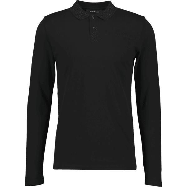 Image of Peak Performance M Logo Long Sleeve Pique Puuvilla t-paidat BLACK (Sizes: S)