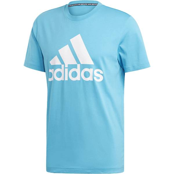 Image of Adidas M Mh Bos Tee Puuvilla t-paidat SHOCK CYAN (Sizes: S)