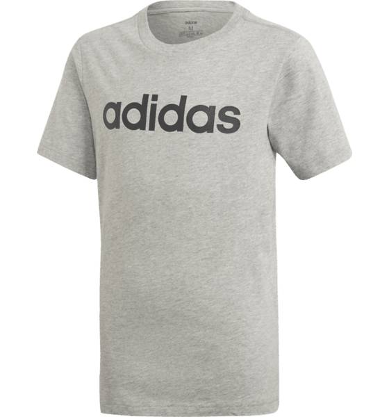 Image of Adidas J Yb E Lin Tee T-paidat MED GREY/BLACK (Sizes: 128)