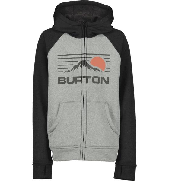 Burton J Oak Full-zipp Hoodie Hupparit MONUMENT HTHR/BLK (Sizes: JR M)