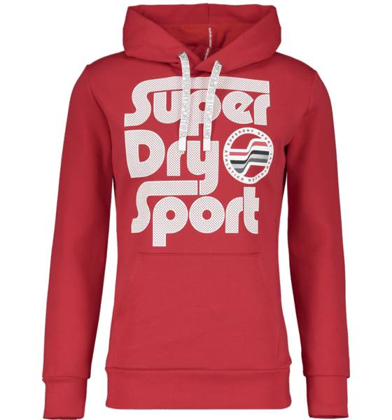 Image of Superdry M Surf Sport Hood Hupparit RED (Sizes: S)