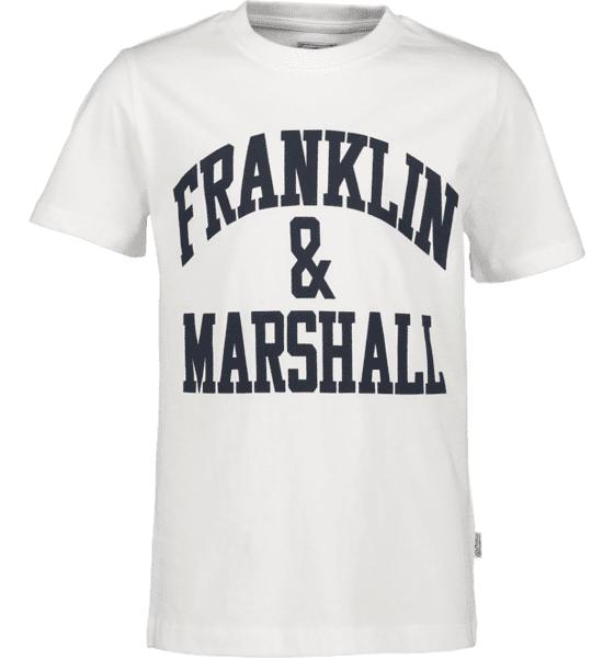 Marshall Franklin & Marshall J F And M Cf Logo Tee T-paidat BRIGHT WHITE (Sizes: 8-9 Y)