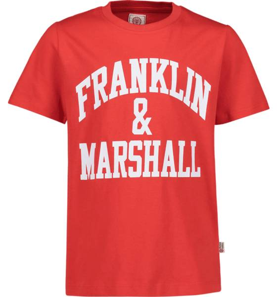Marshall Franklin & Marshall J F And M Cf Logo Tee T-paidat HIGH RISK RED (Sizes: 8-9 Y)