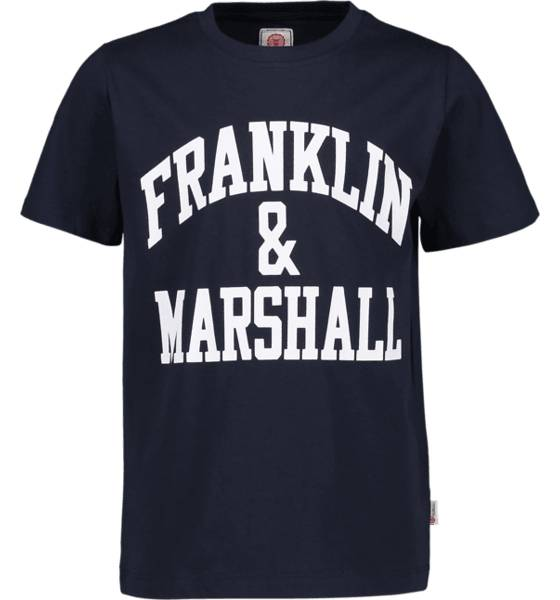 Marshall Franklin & Marshall J F And M Cf Logo Tee T-paidat NAVY (Sizes: 7-8 Year)