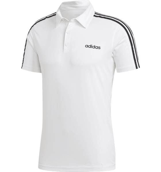 Image of Adidas M D2m 3 Stripes Polo Paidat & pikeepaidat WHITE (Sizes: S)