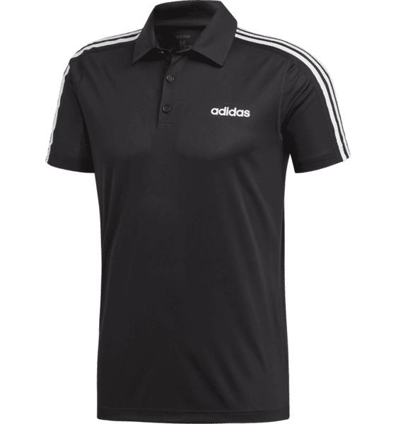 Image of Adidas M D2m 3 Stripes Polo Paidat & pikeepaidat BLACK (Sizes: S)