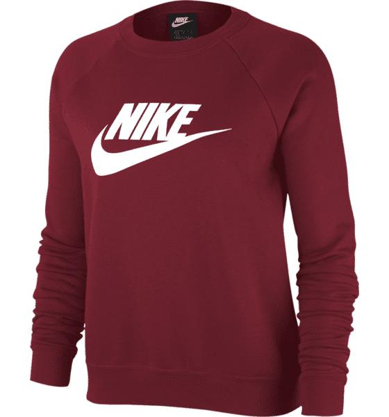 Image of Nike W Essntl Crew Flc Hbr Collegepaidat TEAM RED/WHITE (Sizes: M)