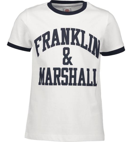 Marshall Franklin & Marshall J Ringer Logo Tee T-paidat BRIGHT WHITE (Sizes: 8-9 Y)