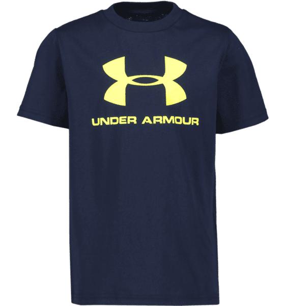 Under Armour J Sportstyle Logo Ss Treenivaatteet ACADEMY/YELLOW (Sizes: JR S)