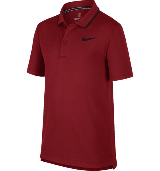 Image of Nike B Nkct Dry Polo Tm Tennisvaatteet TEAM CRIMSON/BLACK (Sizes: JR M)