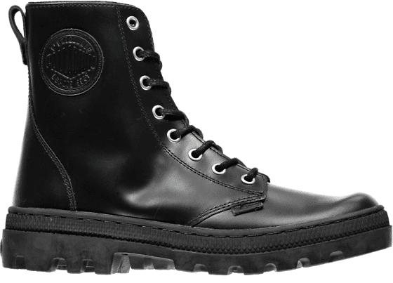 Palladium W Pallabosse Officer Leather Varsikengät BLACK (Sizes: 40)