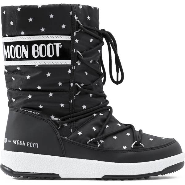 Image of Moonboot G Quilted Star Varsikengät BLACK/WHITE (Sizes: 27)