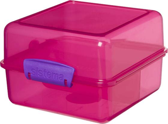 Image of Sistema Lunch Cube 1,4l Retkeilytarvikkeet PINK (Sizes: One size)