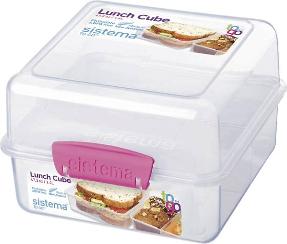 Image of Sistema Lunch Cube To Go 1,4l Retkeilytarvikkeet PINK (Sizes: One size)