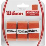 Wilson Profil Overgrip 3p Tennisvarusteet ORANGE (Sizes: No Size)