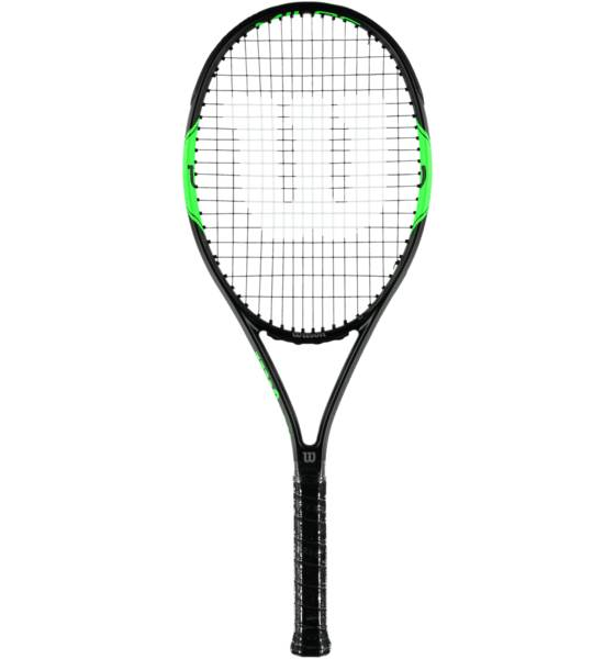 Wilson Milos Tour 100 Tennismailat BLACK/GREEN (Sizes: 3)