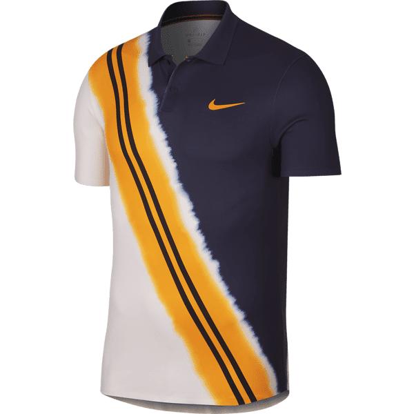 Nike M Nkct Adv Polo Ny Tennisvaatteet BLACKENED BLUE/ORA (Sizes: M)