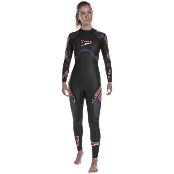 Speedo W Fastskin Xenon Thinswim L/s Fullsuit Märkäpuvut BLACK/PURPLE (Sizes: L)