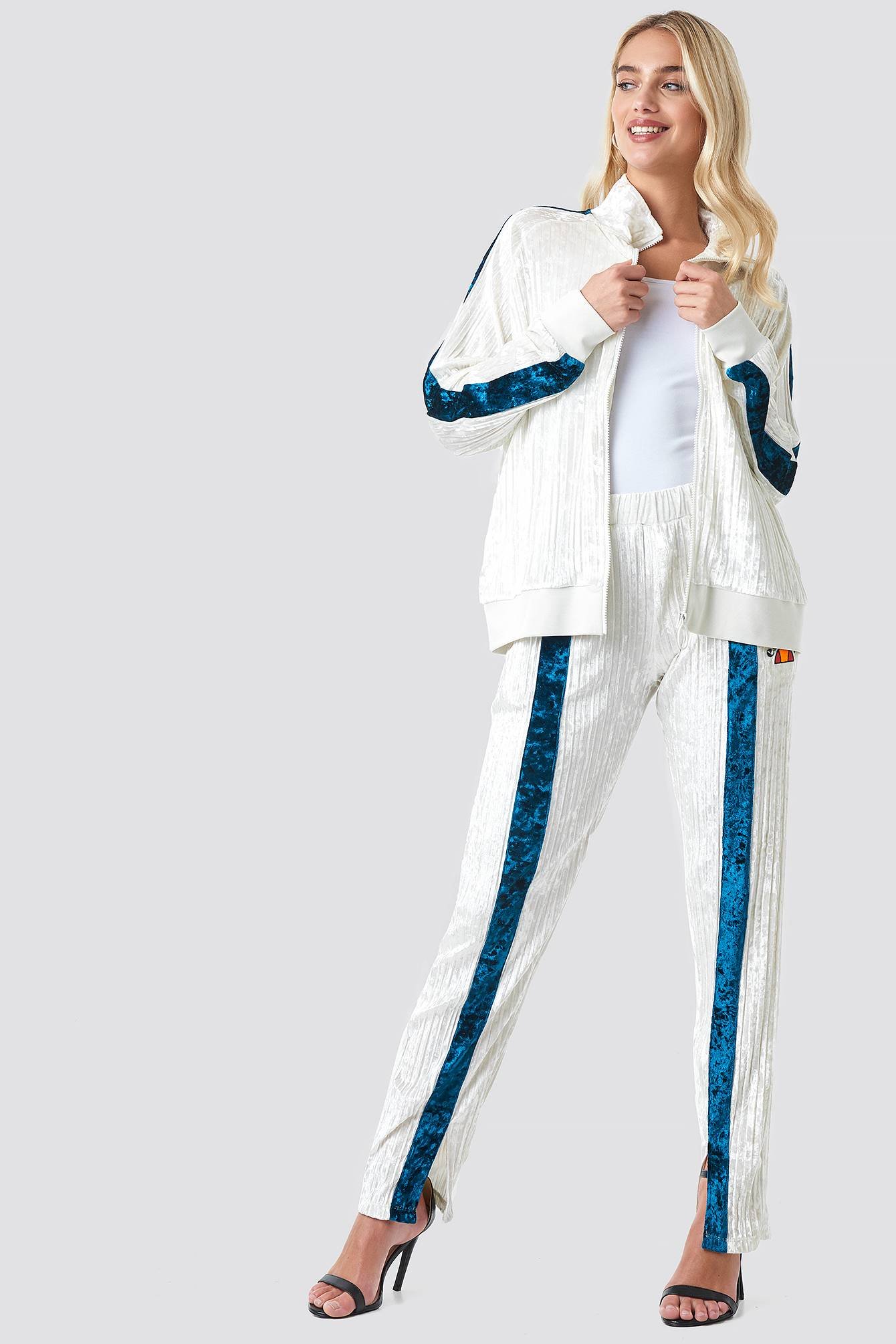 Ellesse El Veronica Velvet Track Pant - White