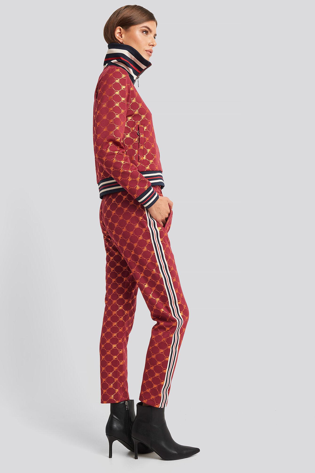 FILA Gvantsa Cropped Pants - Red