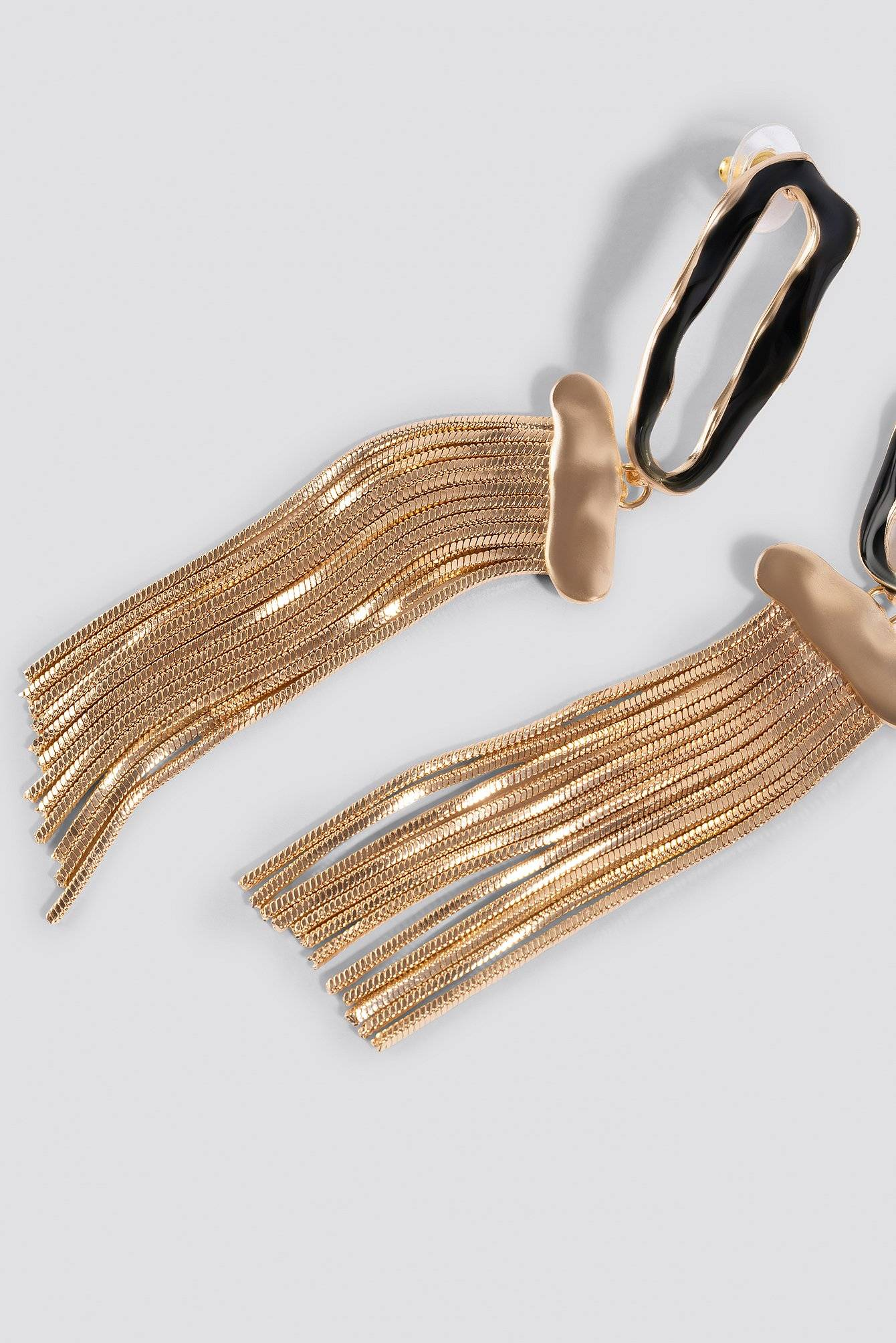 MANGO Glasgow Earrings - Black,Gold