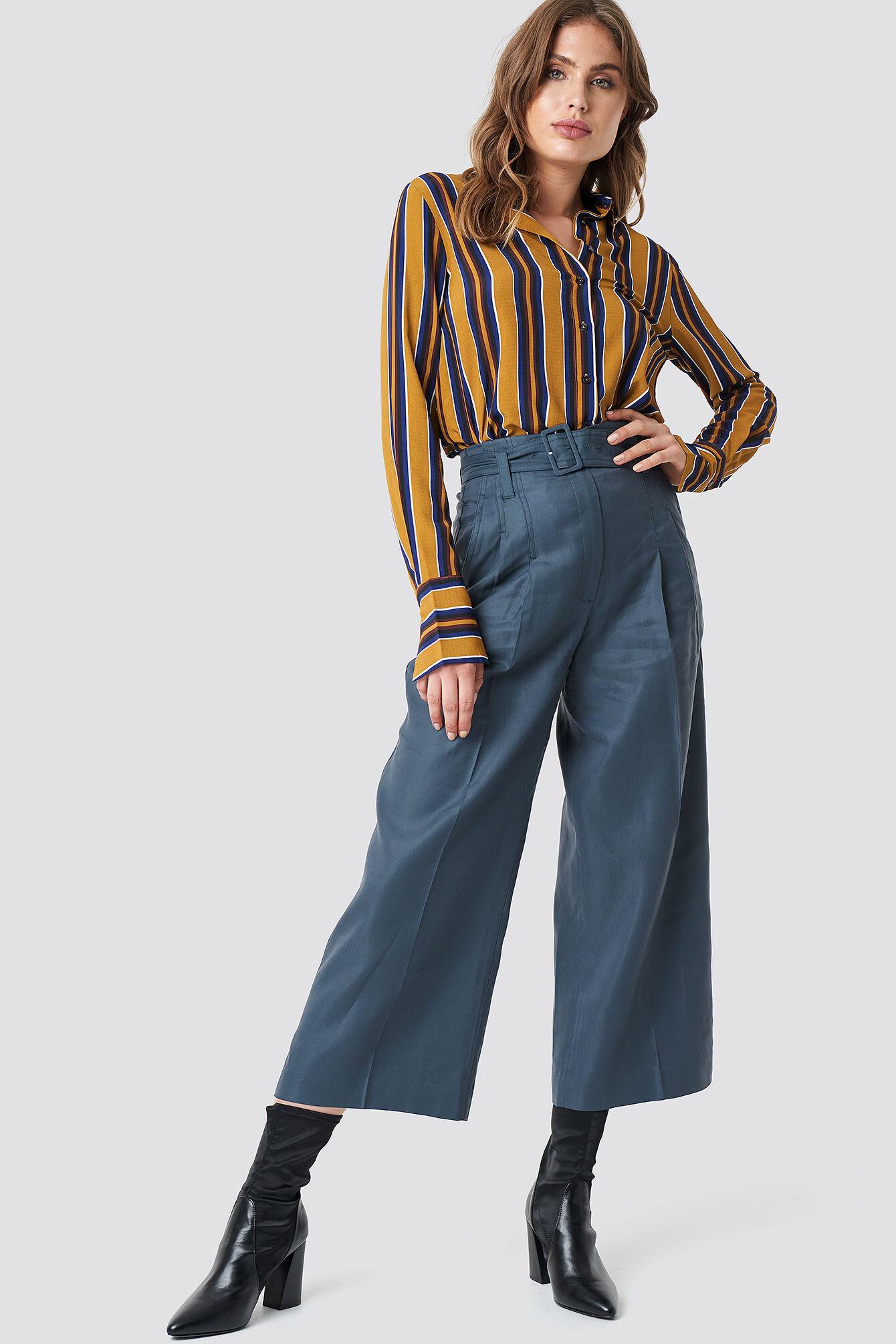 MANGO Linus Trousers - Blue