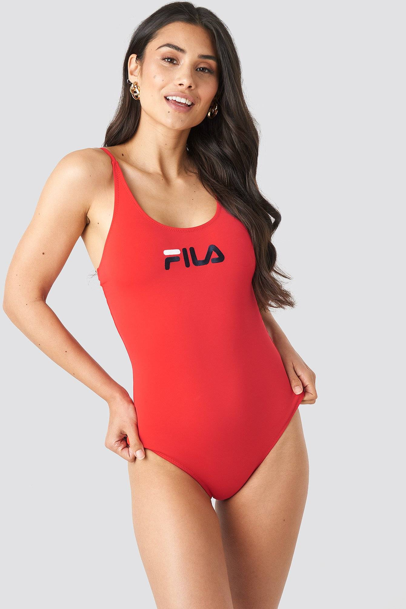 FILA Saidi Swimsuit x NA-KD - Red  - Size: Small