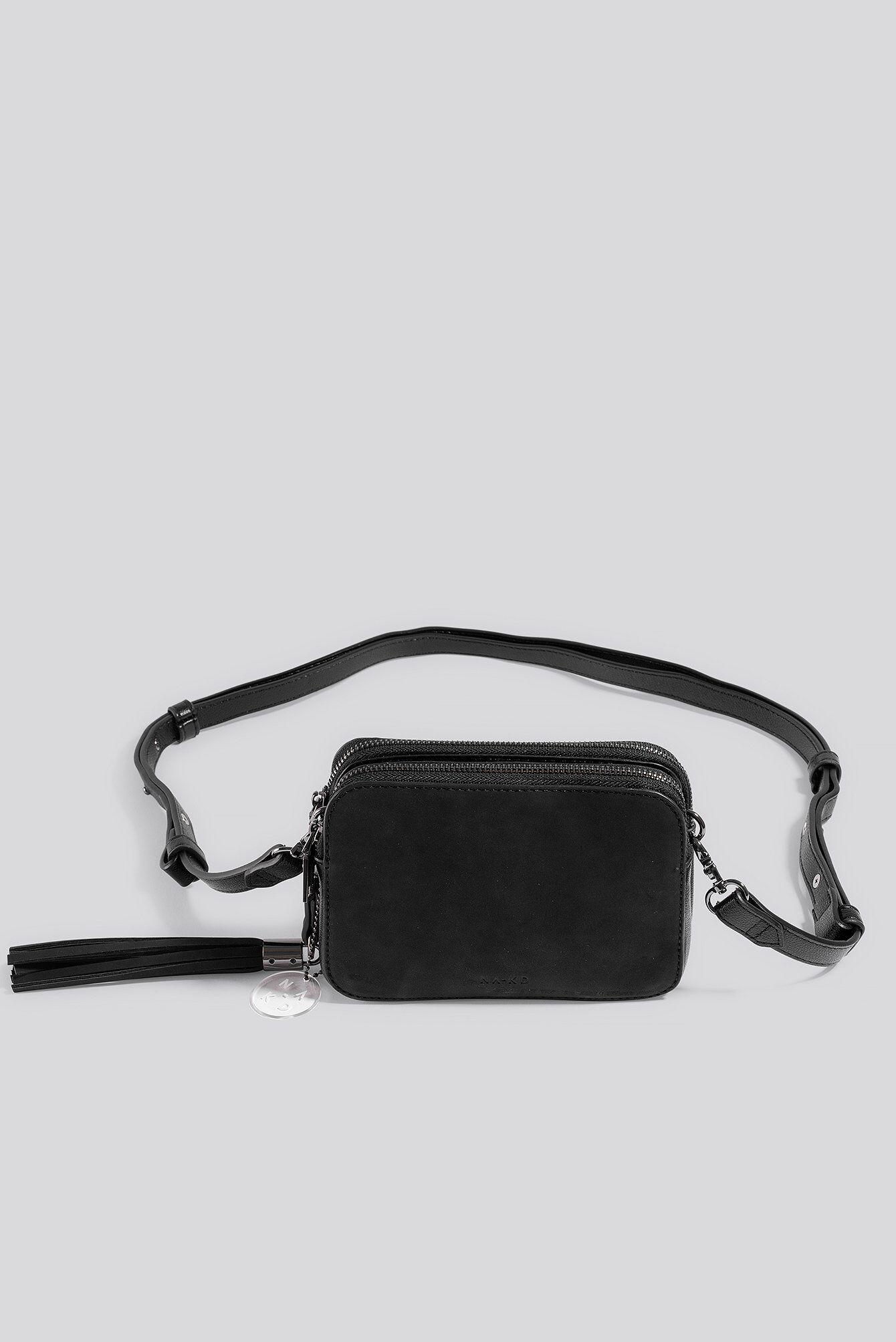 NA-KD Accessories Heritage Crossbody Bag - Black