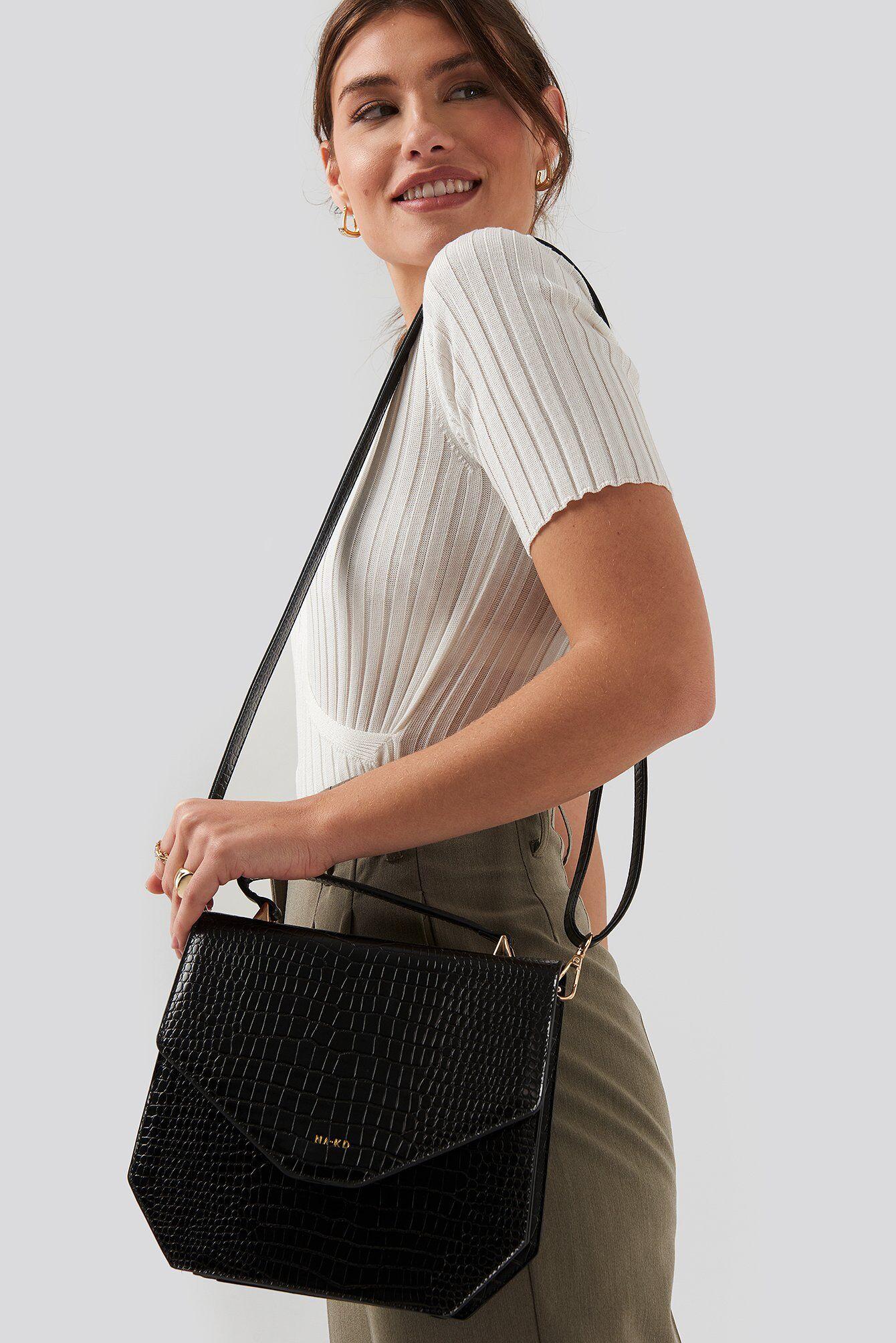 NA-KD Accessories Small Squared Box Bag - Black