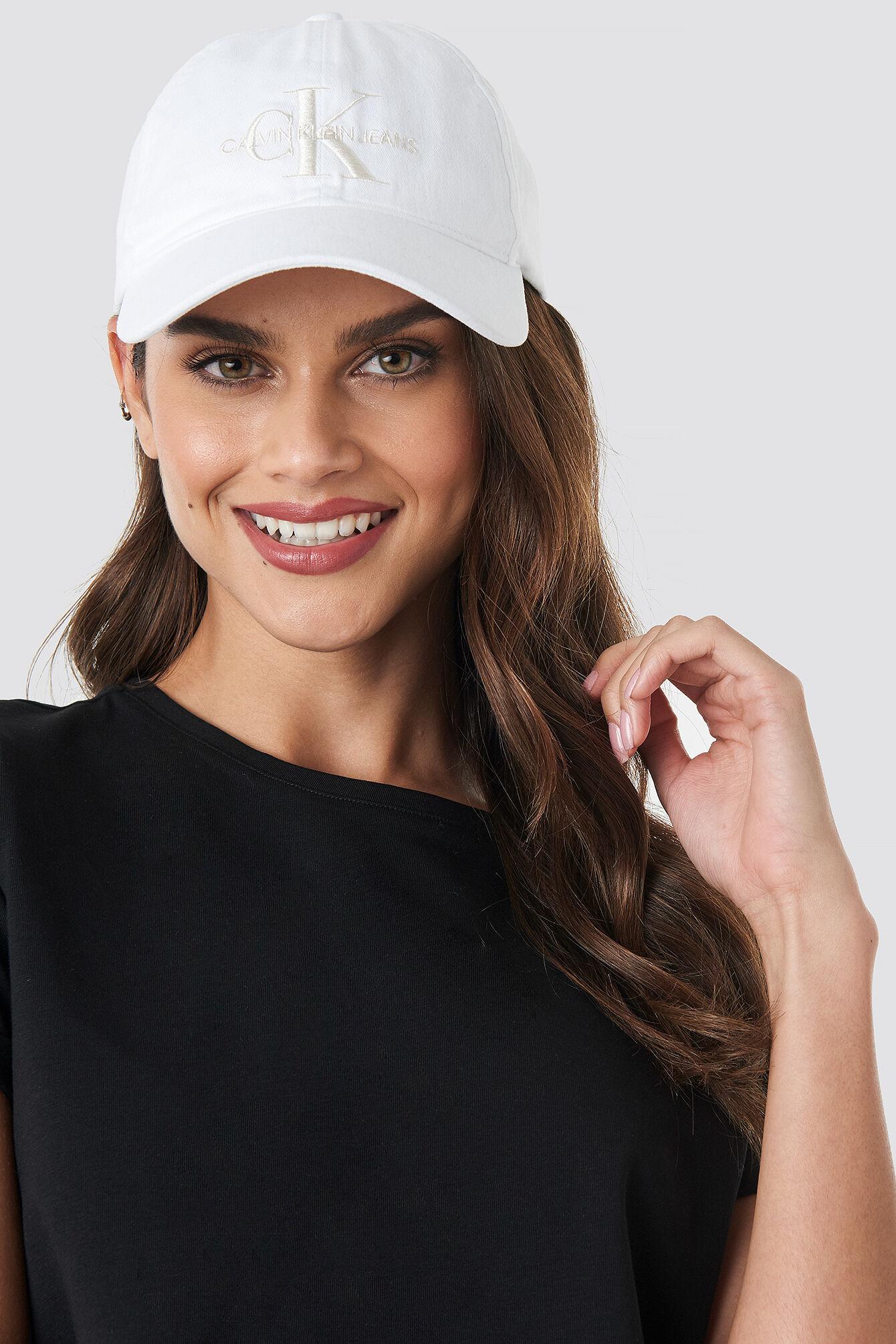 Calvin Klein J Monogram Cap - White