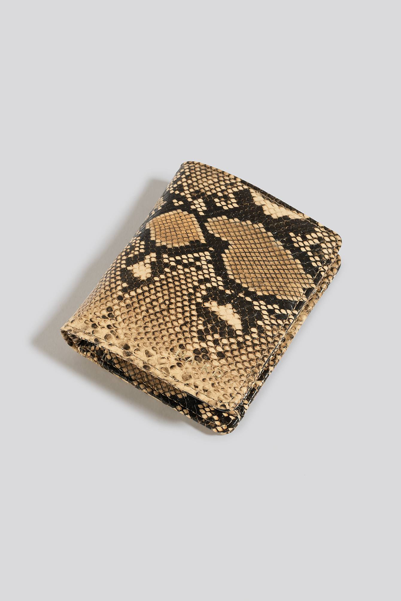 NA-KD Accessories Folded Wallet - Beige,Multicolor  - Size: One Size