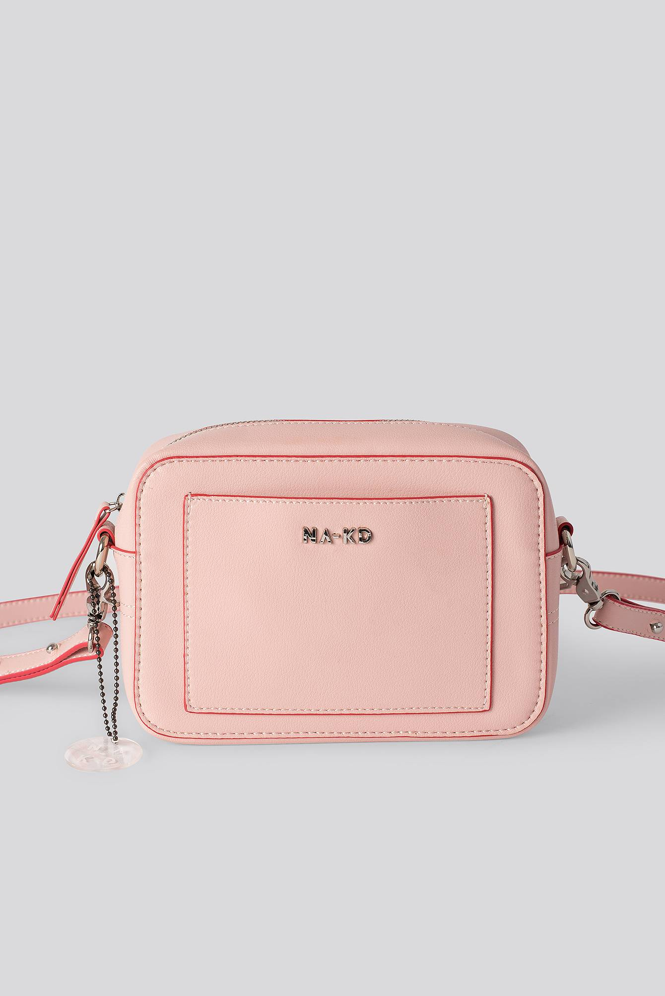 NA-KD Accessories Minimalistic Shoulder Bag - Pink  - Size: One Size
