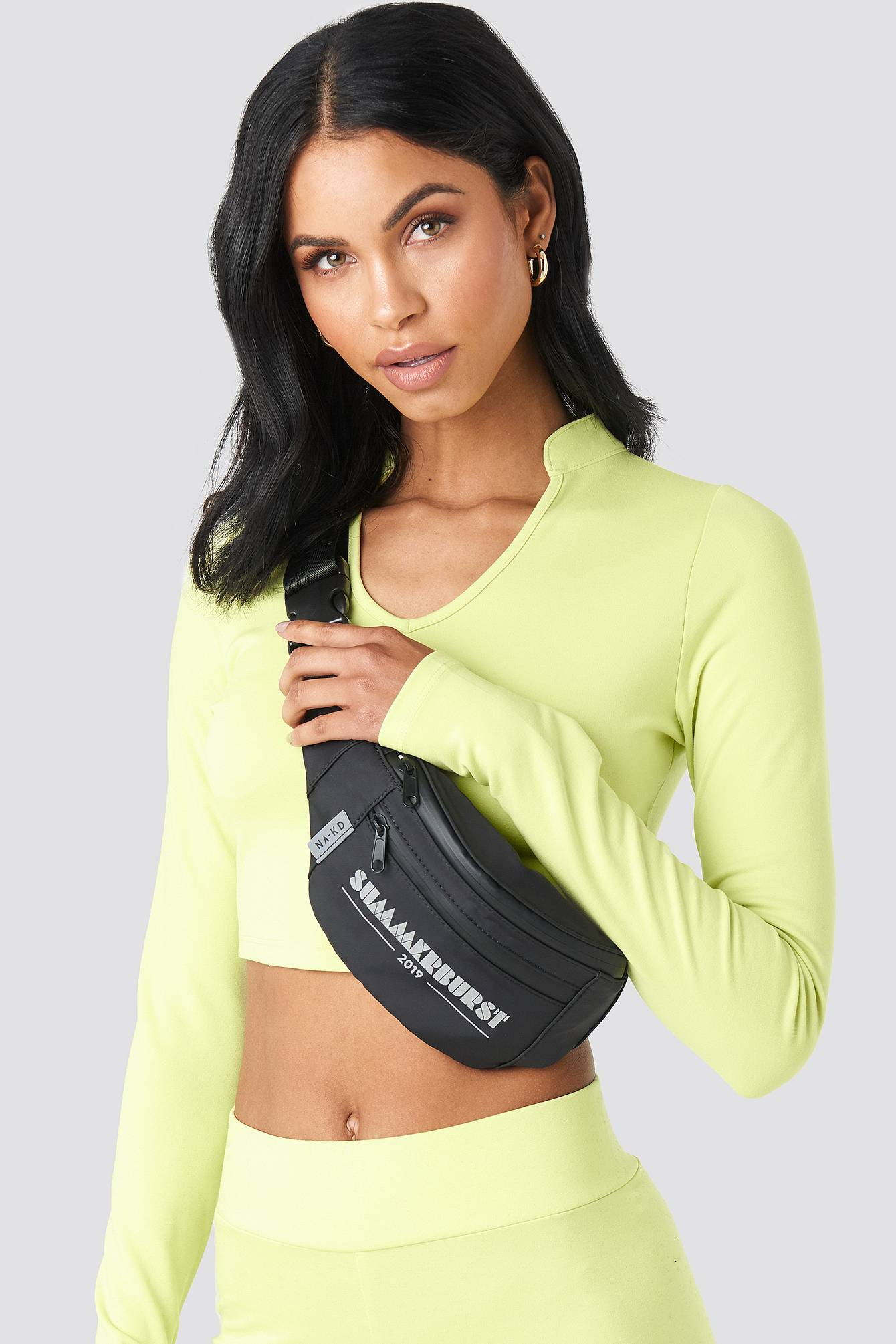 Summerburst x NA-KD Fanny Bag - Black  - Size: One Size