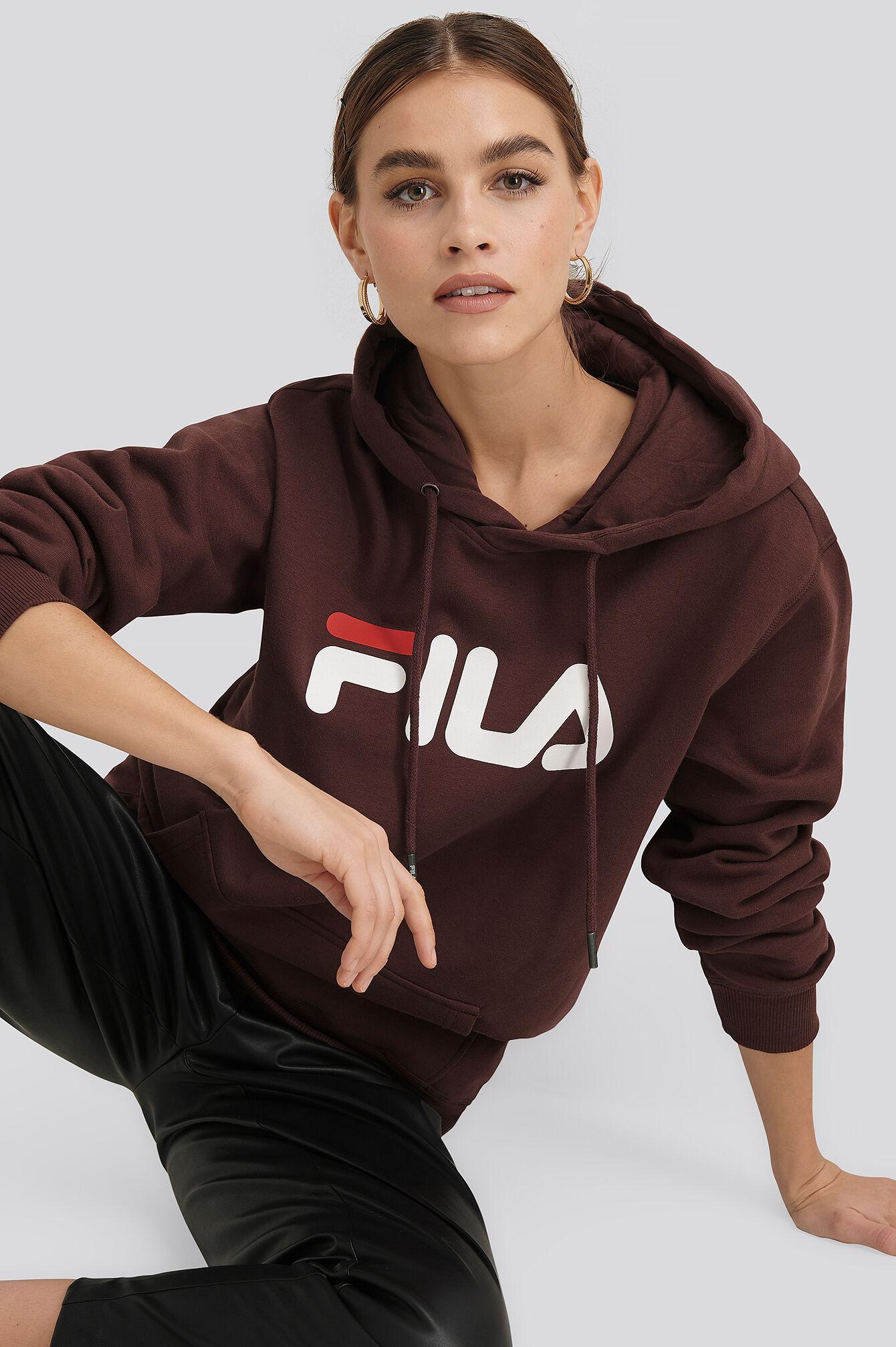 FILA Classic Pure Hoody Kangaroo - Brown  - Size: Small