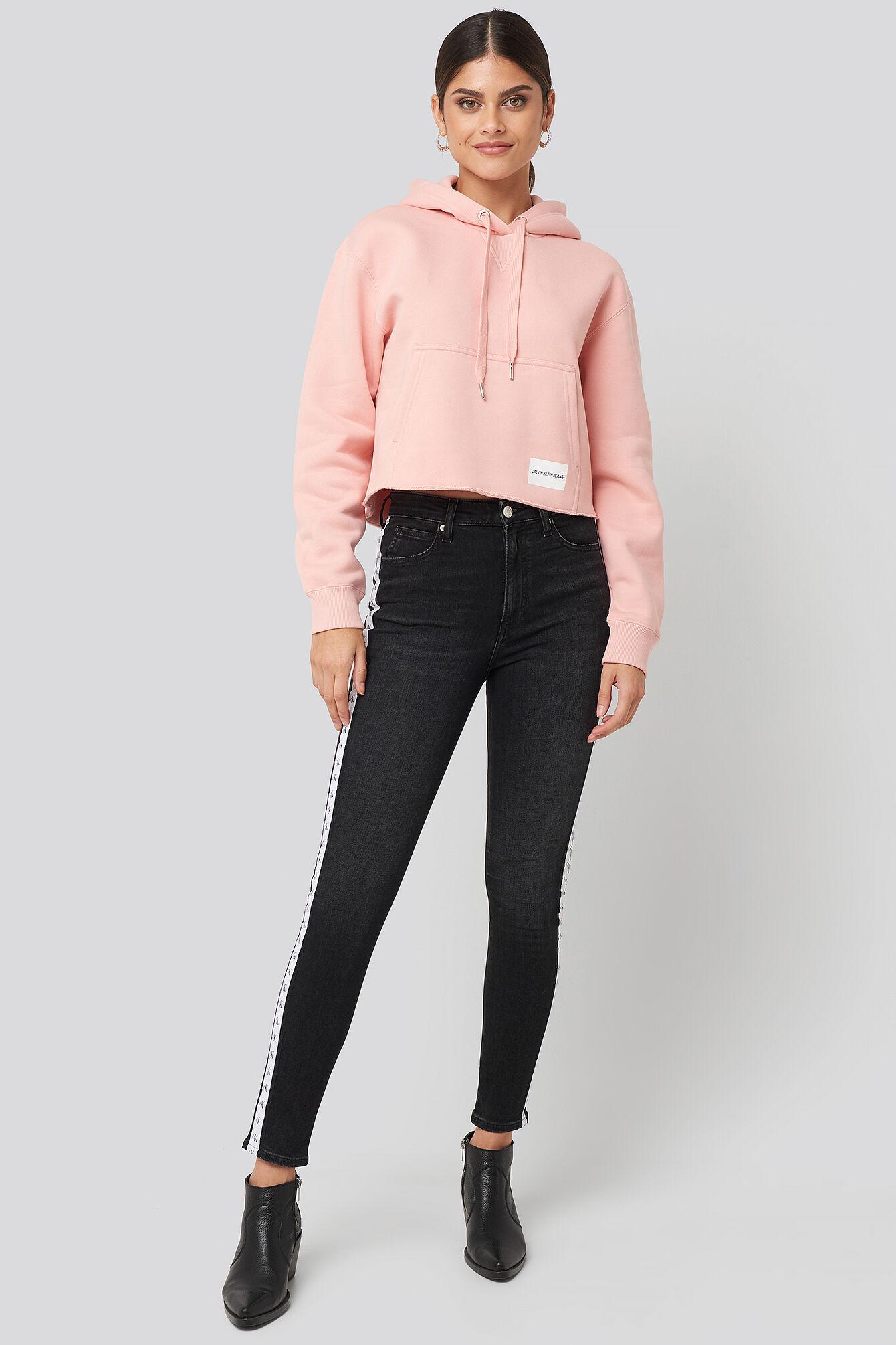 Calvin Klein High Rise Skinny Ankle Denim Jeans - Black  - Size: W24,W25,W26,W27,W28,W29,W30