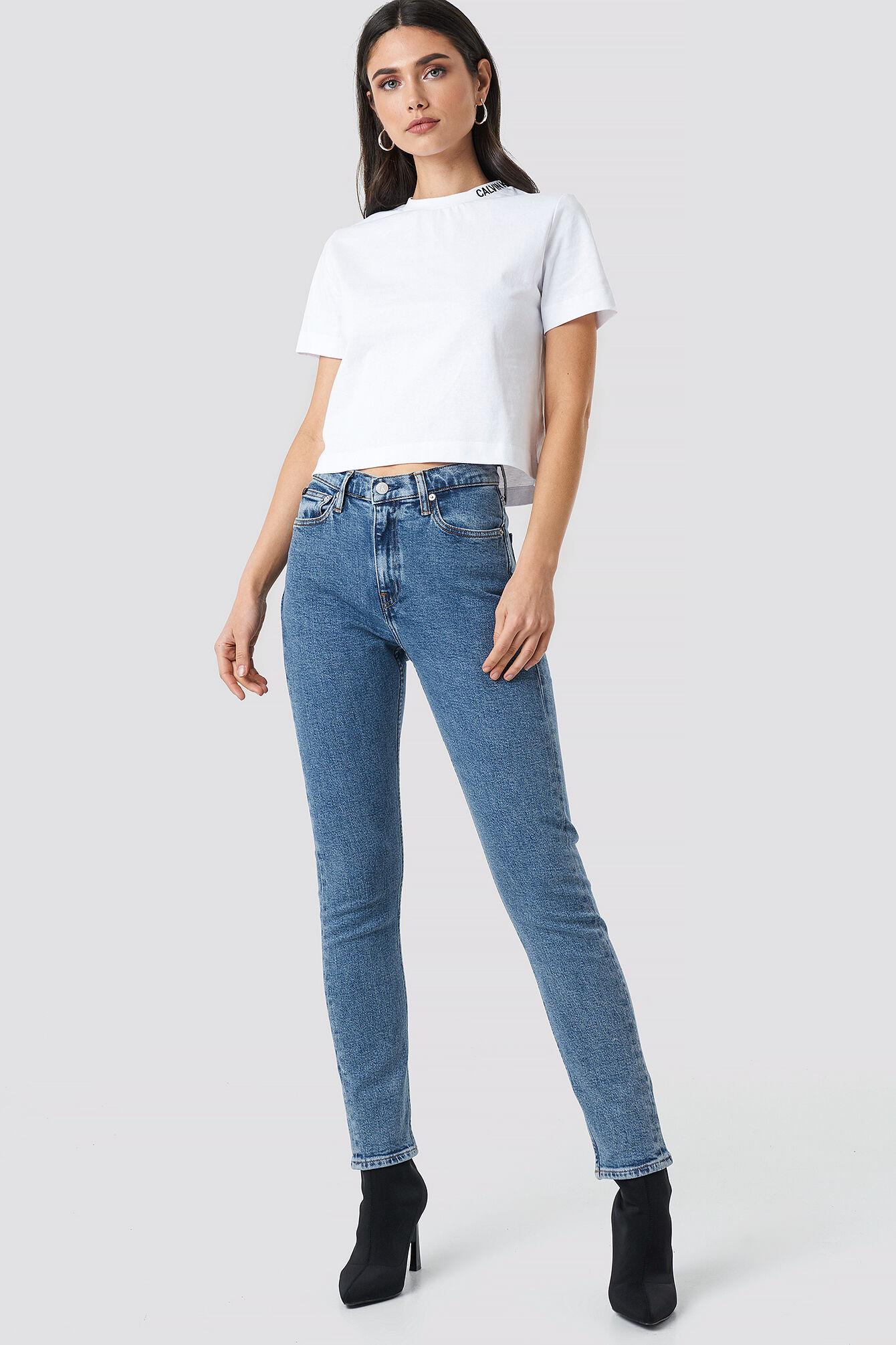 Calvin High Rise Slim Jeans - Blue