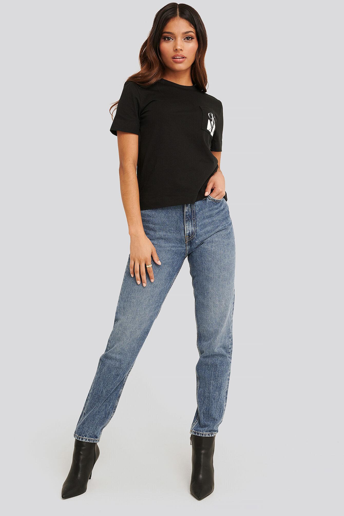 Calvin Klein Mom Jeans - Blue  - Size: W24,W25,W26,W27,W28,W29,W30