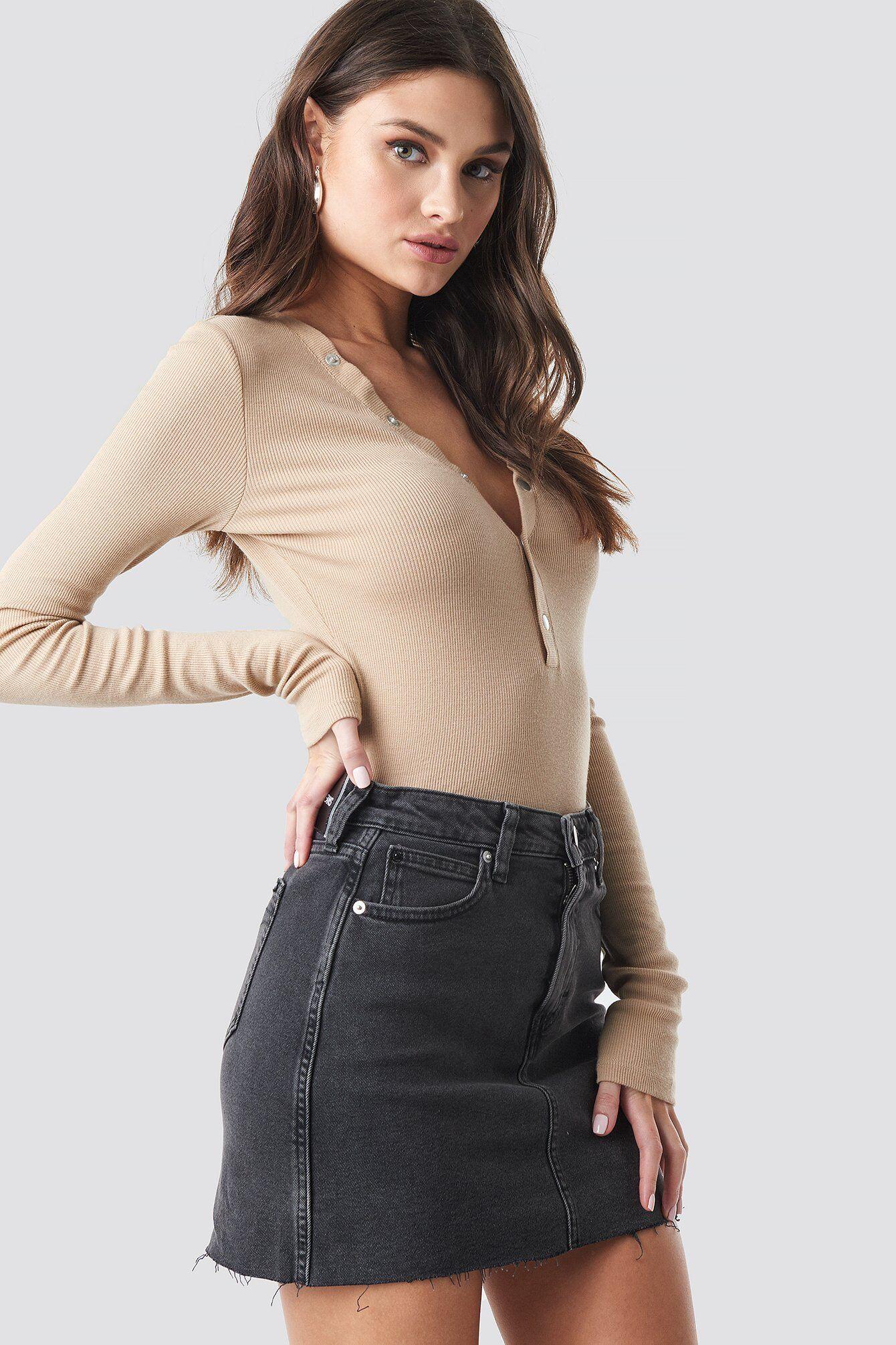Calvin Klein Mid Rise Skirt - Black,Grey