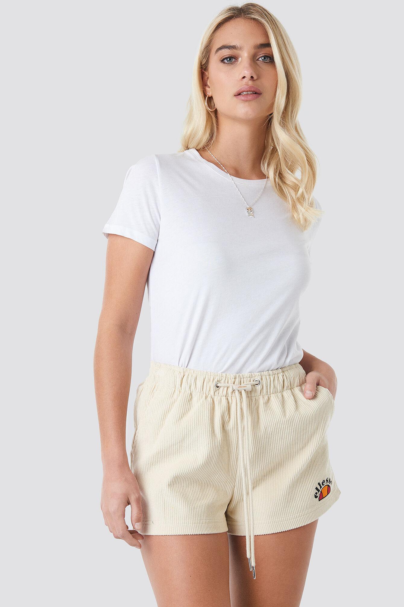 Ellesse El Frangipangi Short - White,Beige
