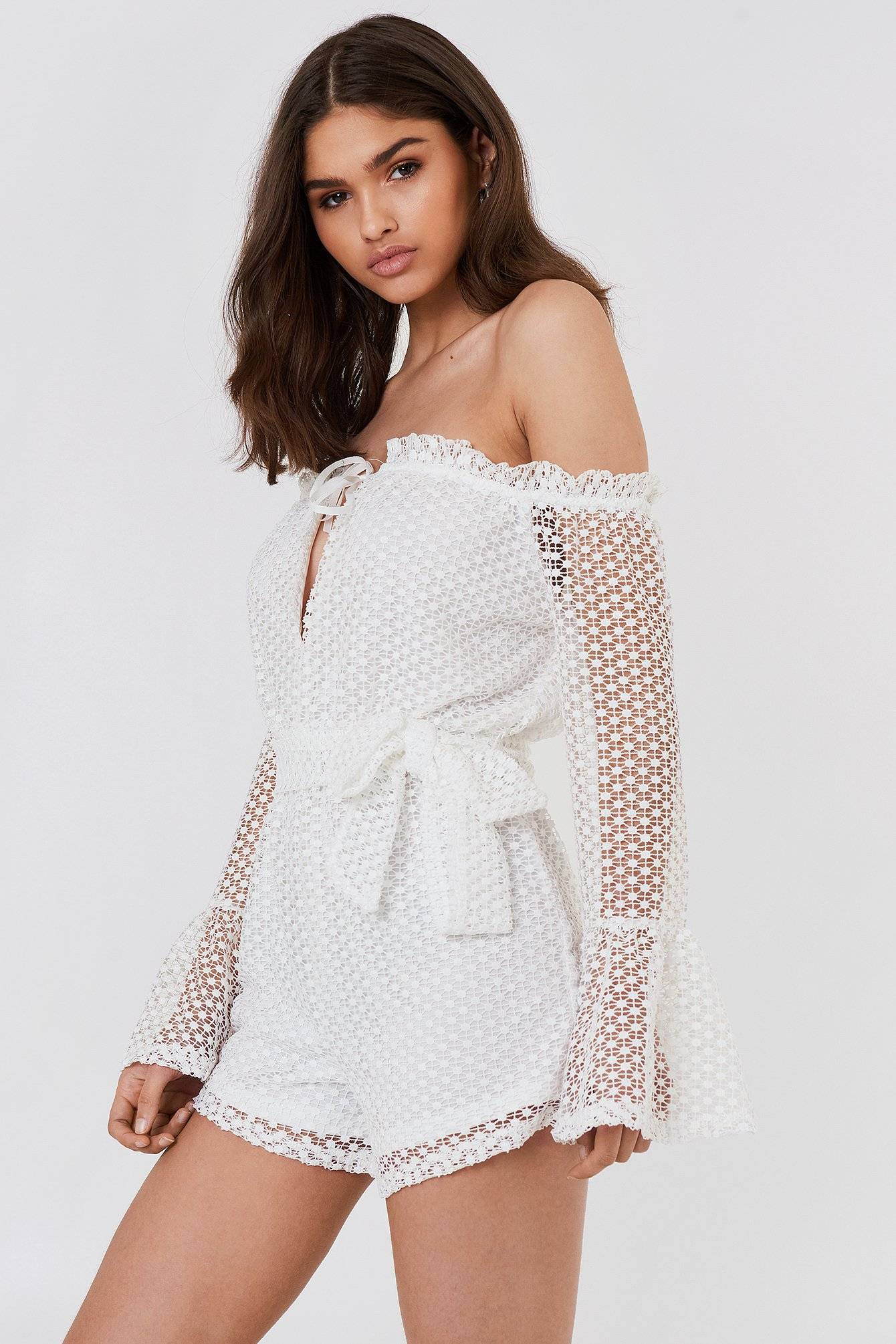 FAYT Angus Playsuit - White