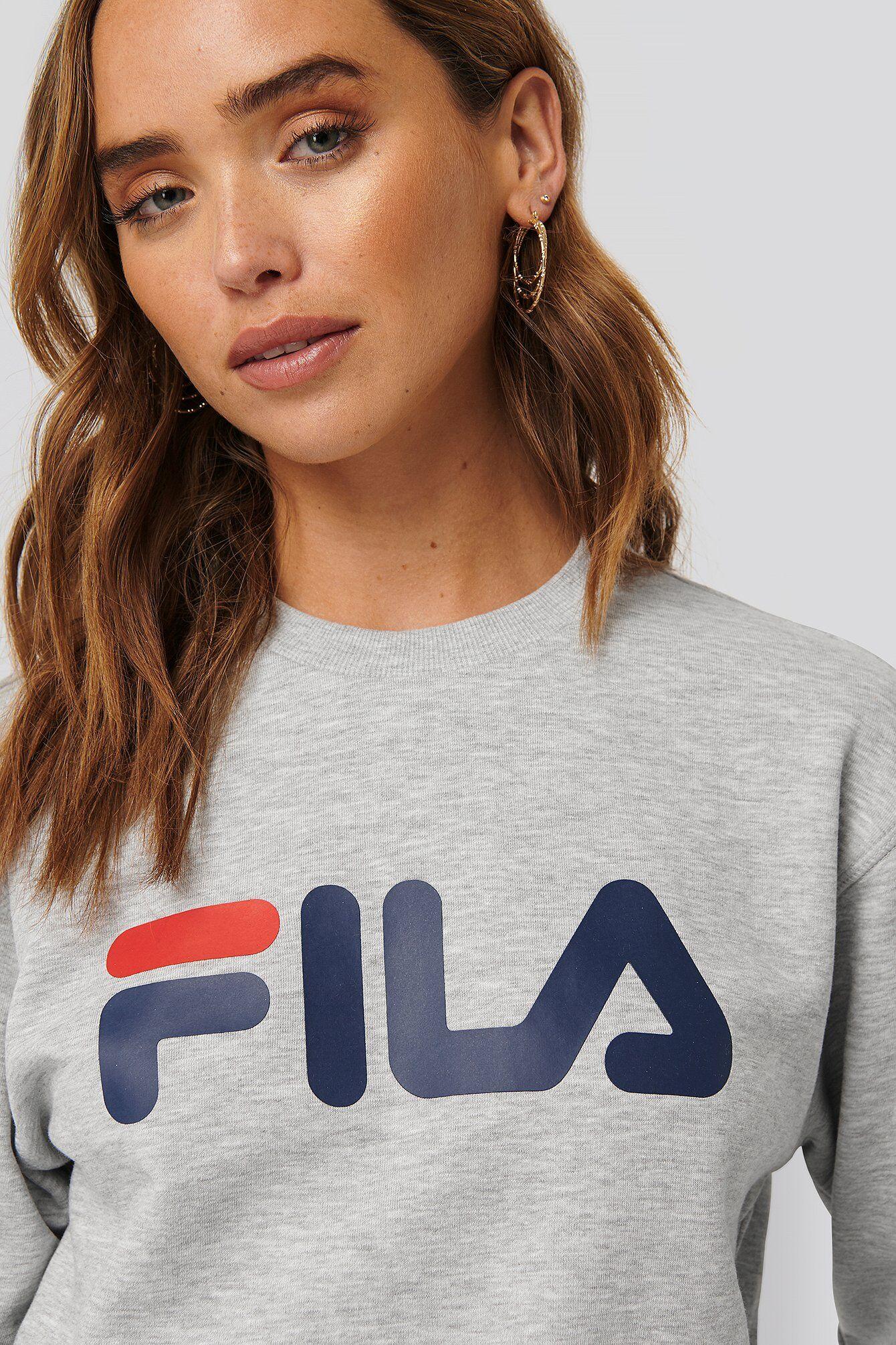 FILA Classic Pure Crew Sweat - Grey  - Size: Small