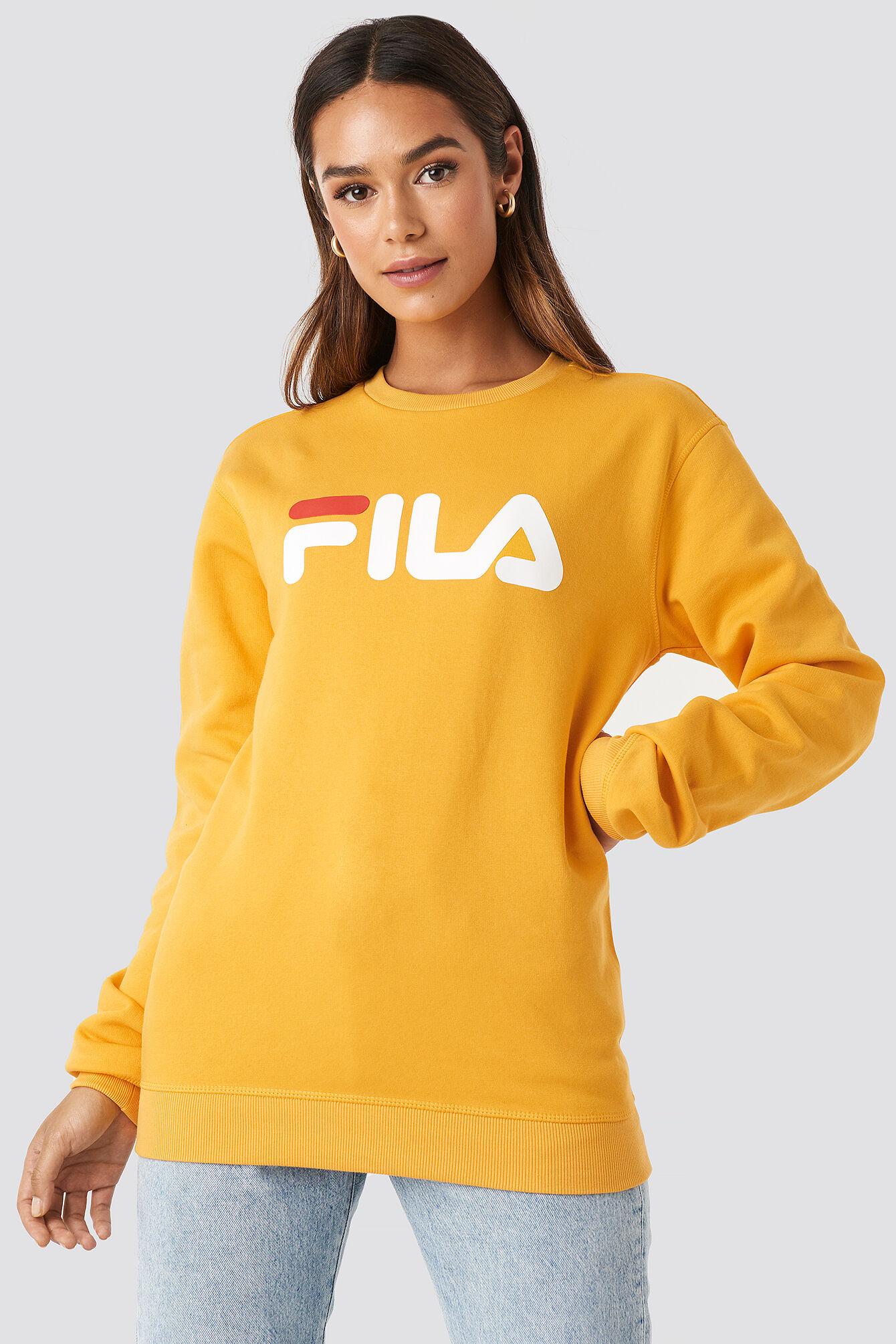 FILA Classic Pure Crew Sweat - Yellow  - Size: Small