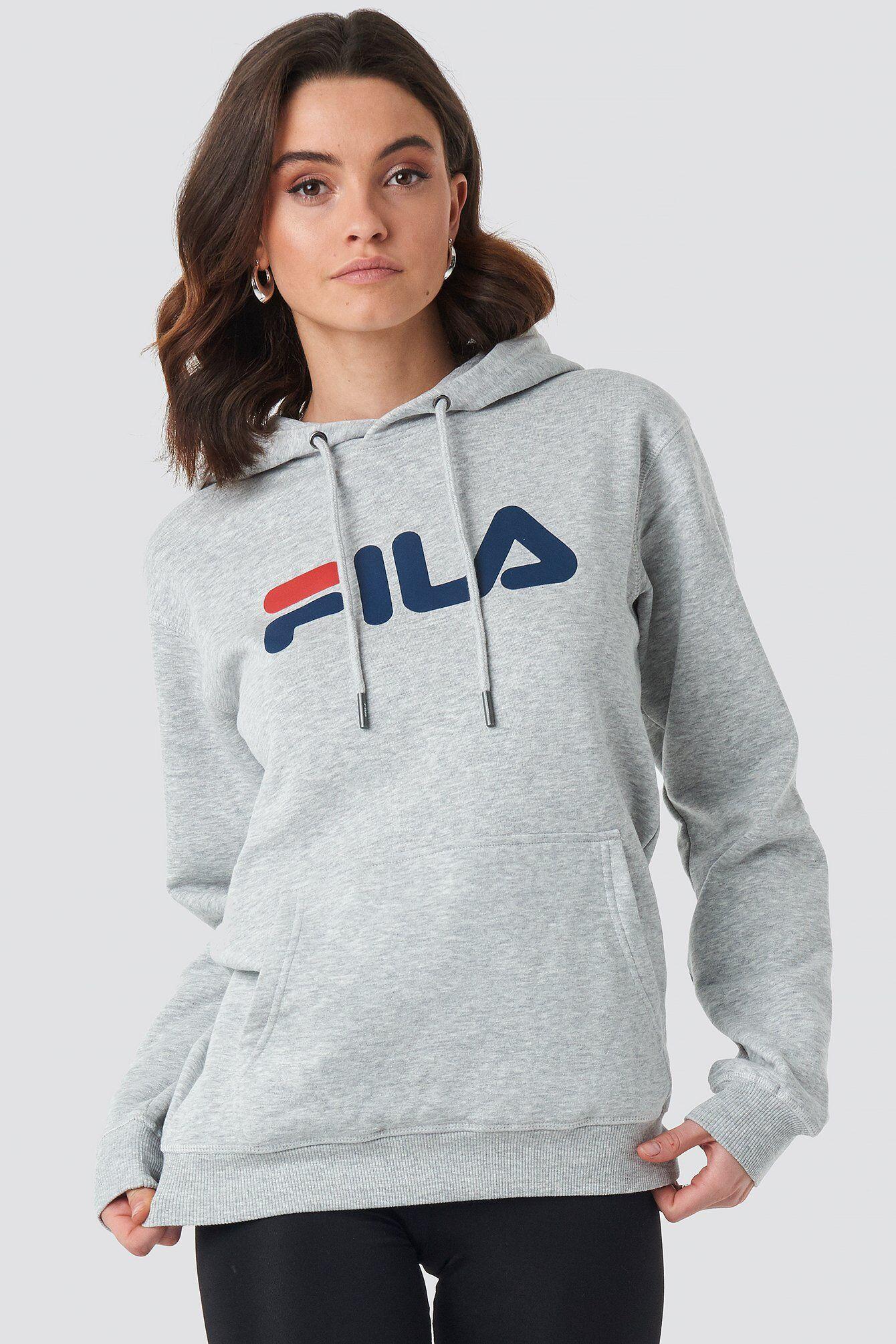 FILA Classic Pure Hoody Kangaroo - Grey  - Size: Small