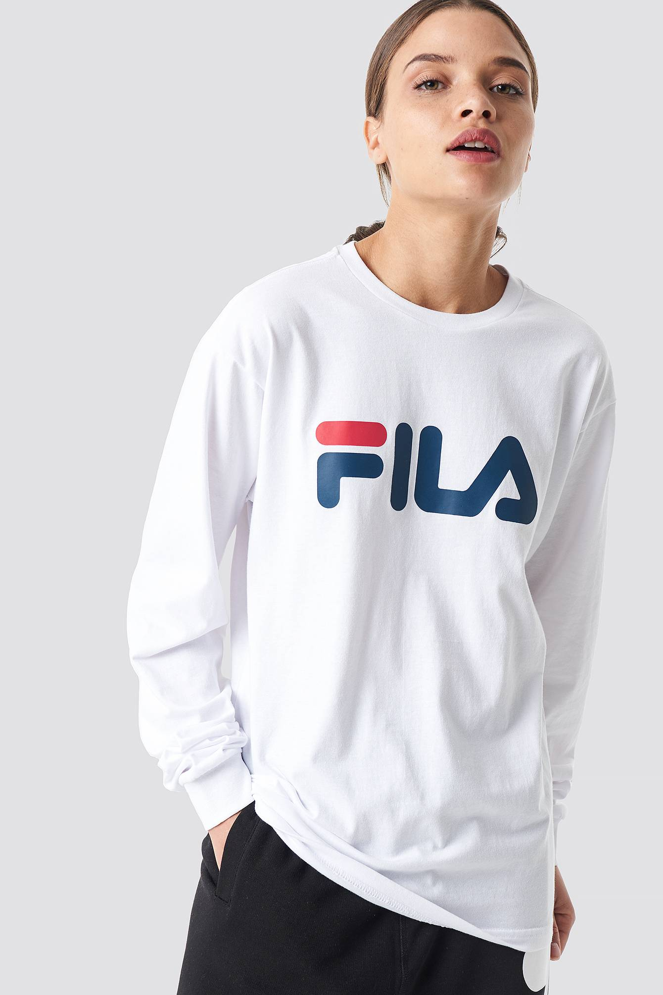 FILA Classic Pure Long Sleeve Shirt - White  - Size: Small