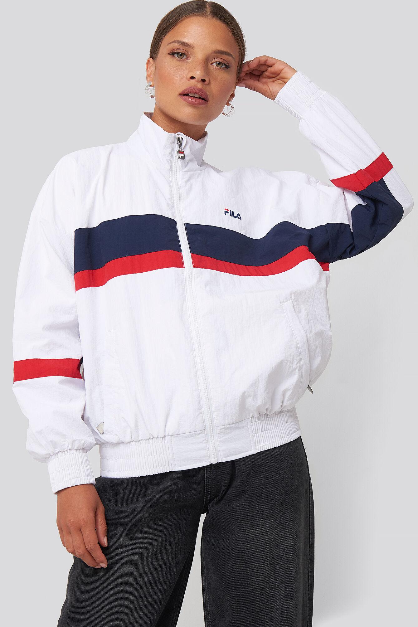 FILA Kaya Wind Jacket - White,Multicolor