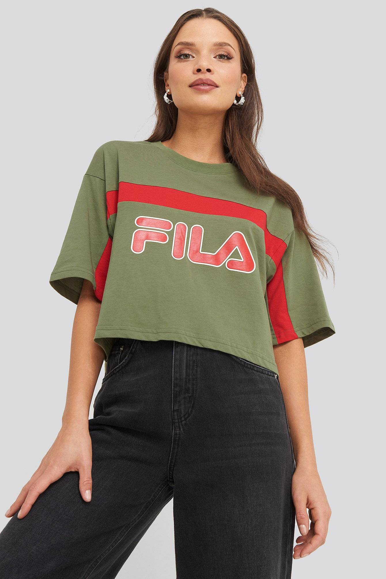 FILA Ulani Cropped Tee - Multicolor