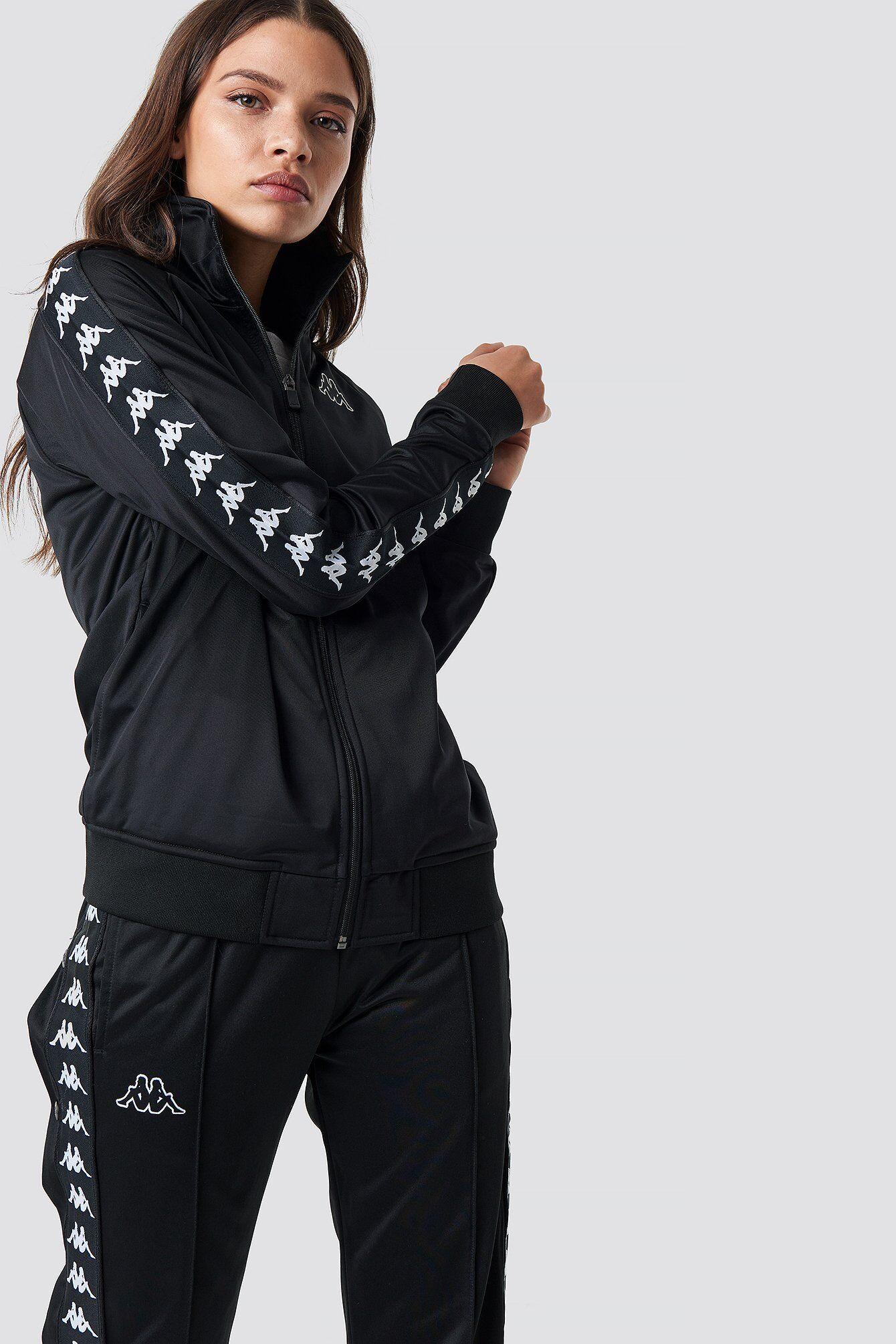 Kappa Anniston Track Jacket - Black  - Size: Small